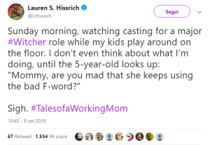 news the witcher tweet protagonista hissrich